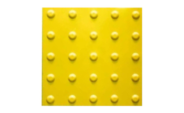 Тактильная плитка конусообразный риф прямой порядок пвх